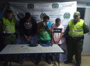 Tres capturados por porte de estupefacientes