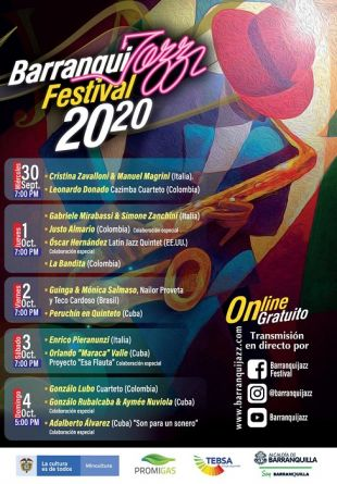 Calienta motores el Barranquijazz 2020 virtual