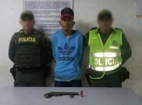 Capturado con arma de fuego en el barrio La Sierrita