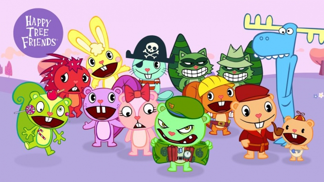 Todos los martes en Comedy Central nuevos episodios de Happy tree friends y el estreno de Cyanide and happiness