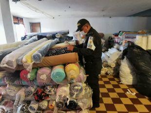 Polfa aprehende más de 29 mil metros cuadrados de telas de contrabando